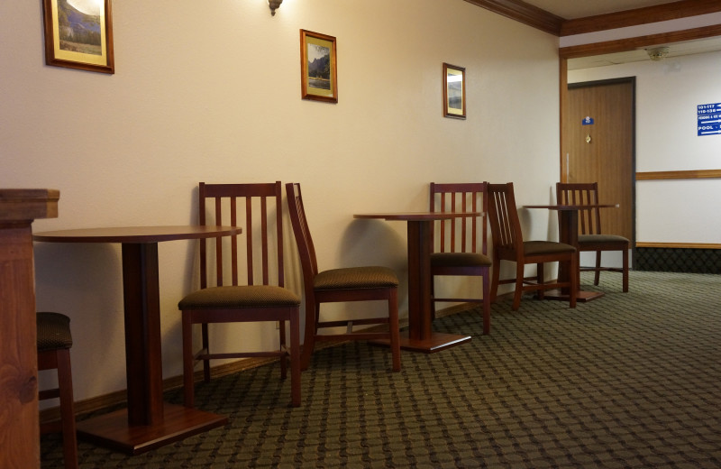 Dining at Luxury Inn and Suites.