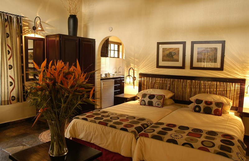 Guest room at Hippo Hollow.