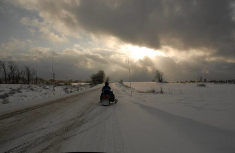 Snowmobiling at S & J Lodge.