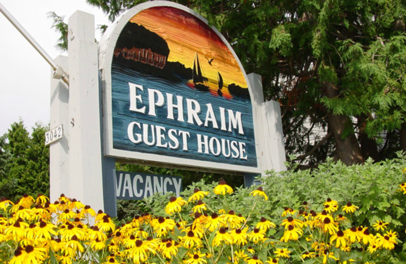 Sign at Ephraim Guest House.