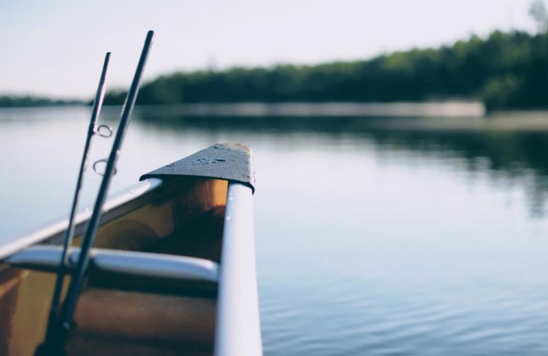 Canoeing near Perham Oasis Travel Plaza.