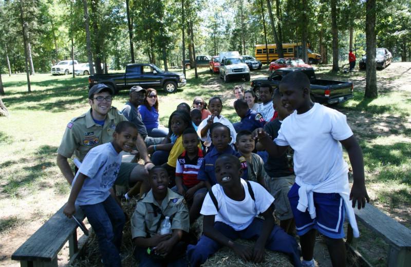 Boy Scouts at Goodman Ranch.