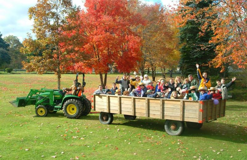 Hay rides at Chestnut Grove Resort.