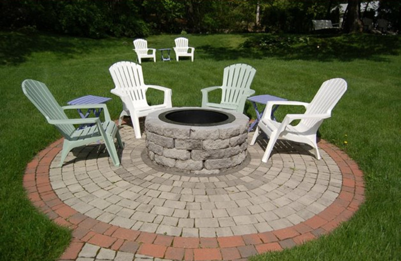 Outdoor fire pit at Almost Home Inn Ogunquit.