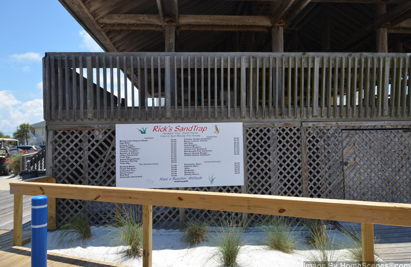 Beach pavilion at Sandpiper Cove.