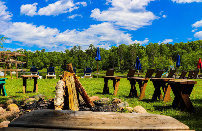 Fire pit at Lost Lake Lodge.