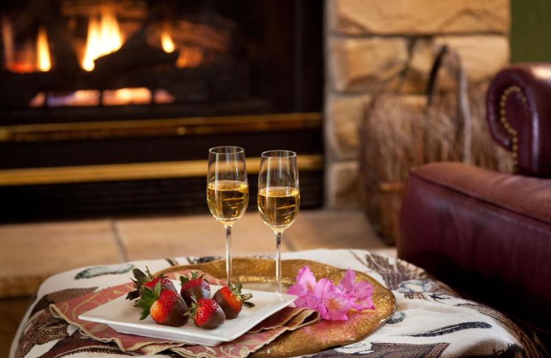 Romantic dining at High Point Inn.