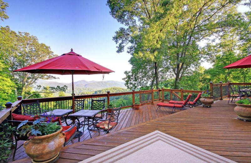 Rental deck at Yonder Luxury Vacation Rentals.