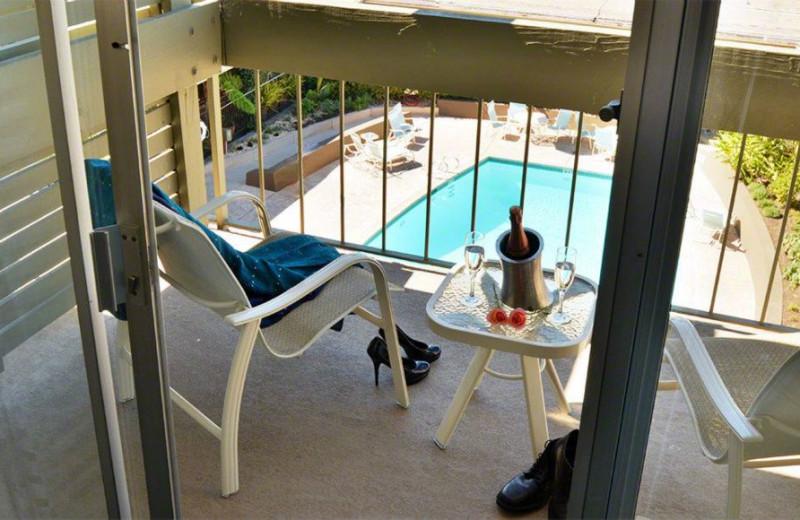 Private Balcony at Carmel Mission Inn