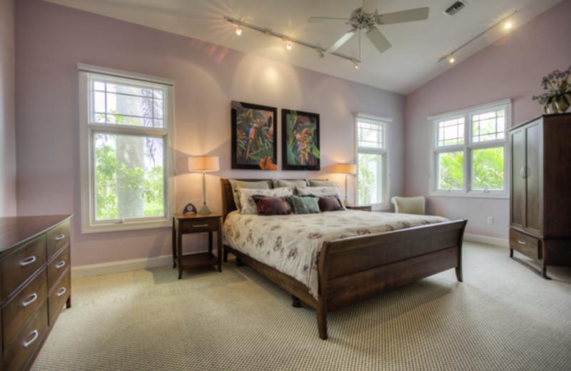 Guest room at Britannia Villas.