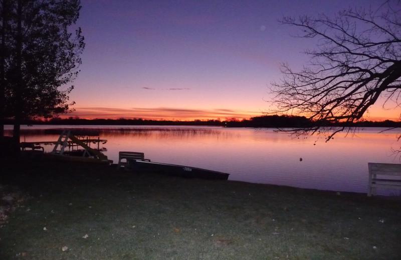 Sunrise at Brophy Lake Resort.