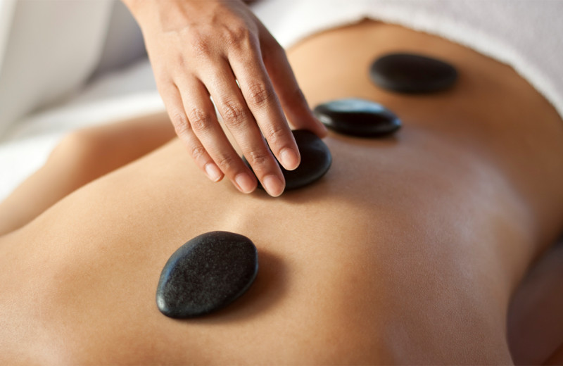 Stone massage at Edelweiss Lodge and Spa.