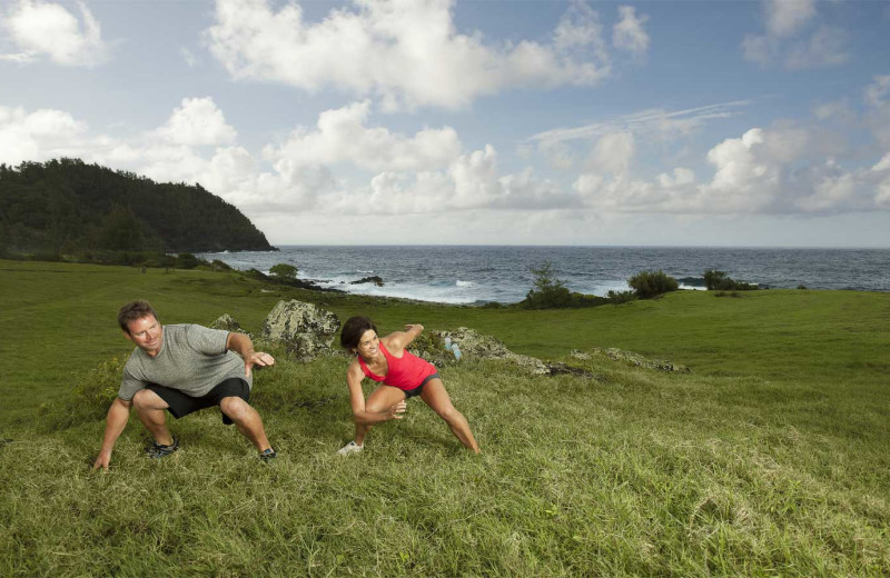 Yoga at Travaasa Hana, Maui.