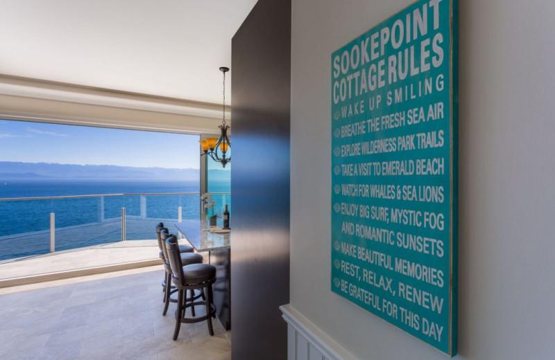 Guest room at SookePoint Ocean Cottage Resort.