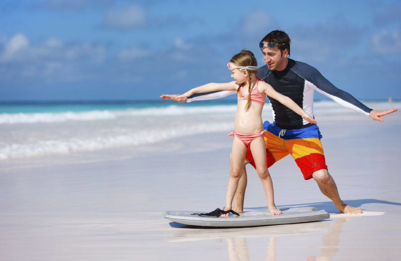 Surfing practice at The Strand Resort Myrtle Beach.