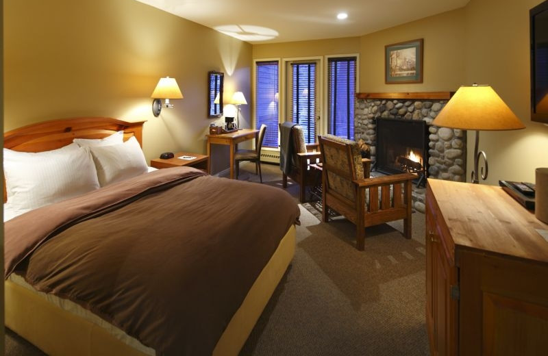 Guest room at Buffalo Mountain Lodge.
