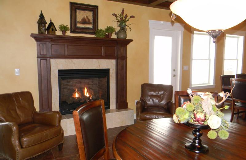 Fireplace view at Summer Creek Inn & Spa.