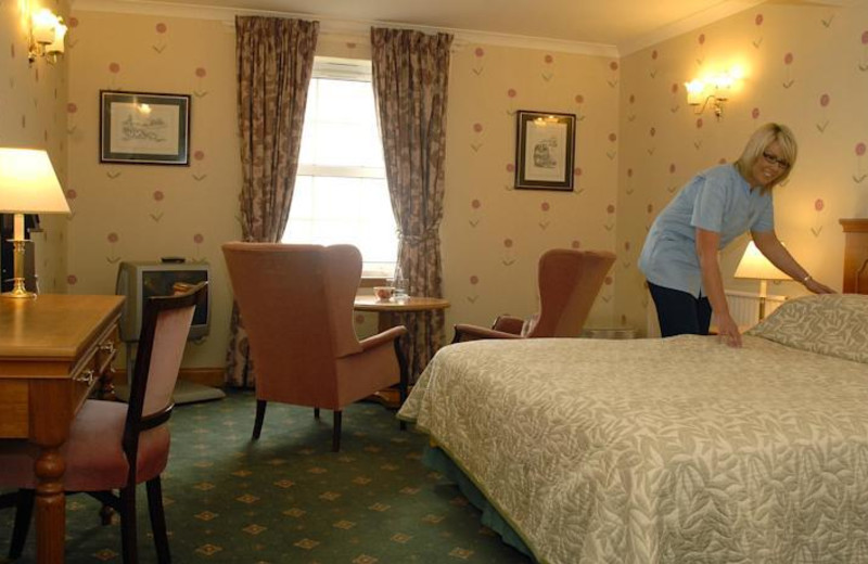 Guest room at North West Castle.