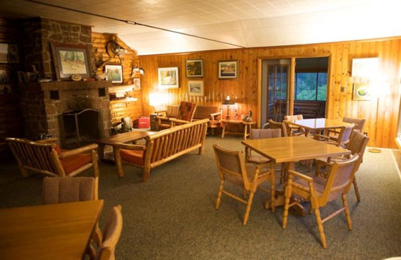 Interior view of Vermilion Bay Lodge.