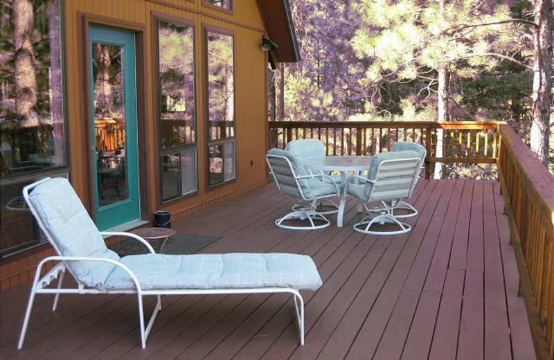 Cabin deck at Idaho Cabin Keepers.