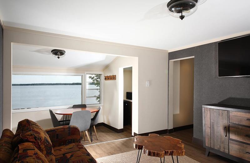 Cabin living room at Bayview Wildwood Resort.