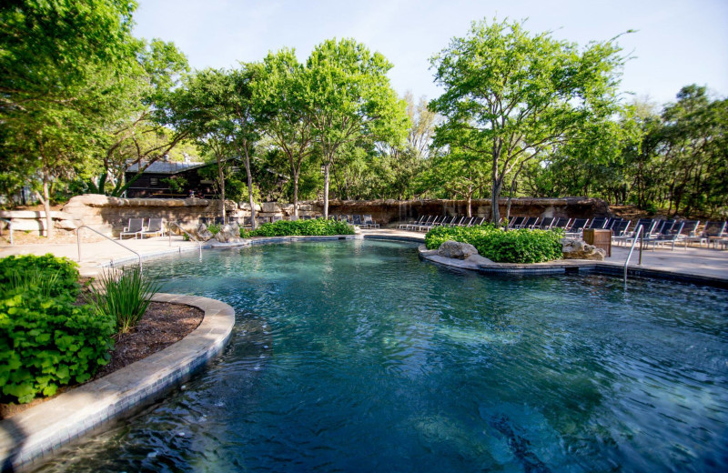 Outdoor pool at Hyatt Regency Hill Country Resort and Spa.