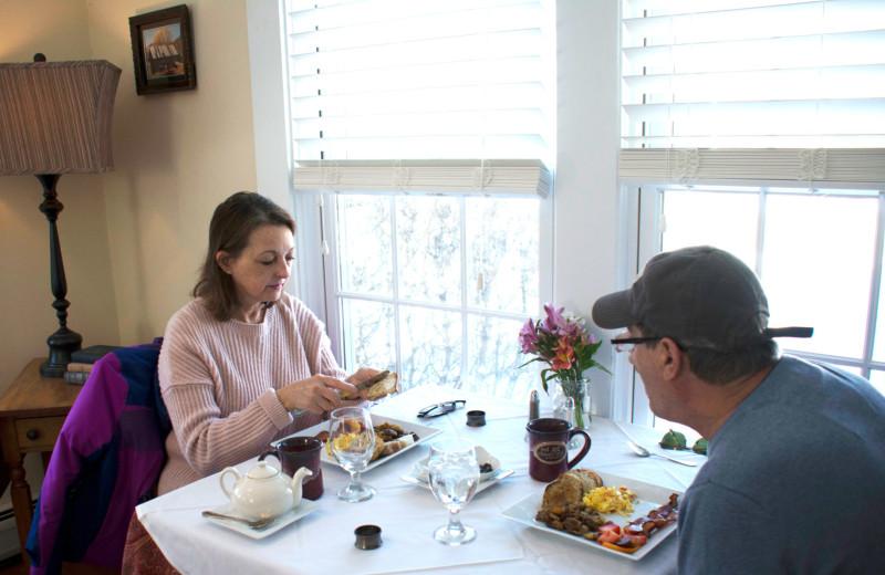 Dining at The Red Clover Inn & Restaurant.