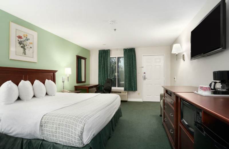 Guest room at Ramada Limited Oceanside.