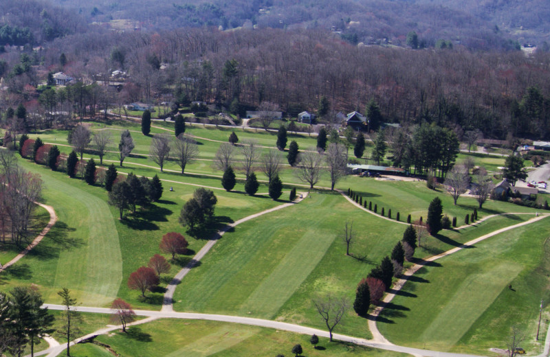 The beautiful Lake Junaluska Golf Course is surrounded by scenic views.