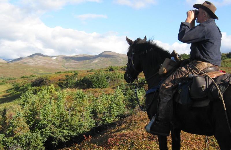 Horseback riding at Kenai Riverside Lodge.