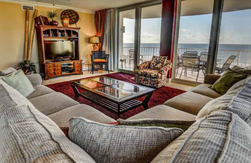 Rental living room at Luna Beach Properties.