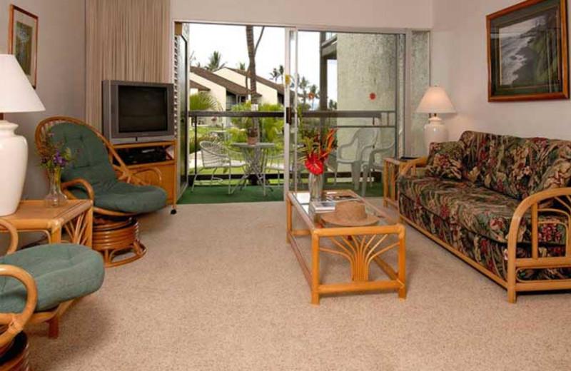 Vacation rental living room at Hale Kamaole Condos.