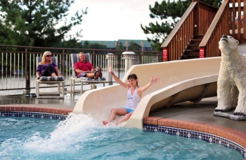 Water slide at Cliffside Resort.