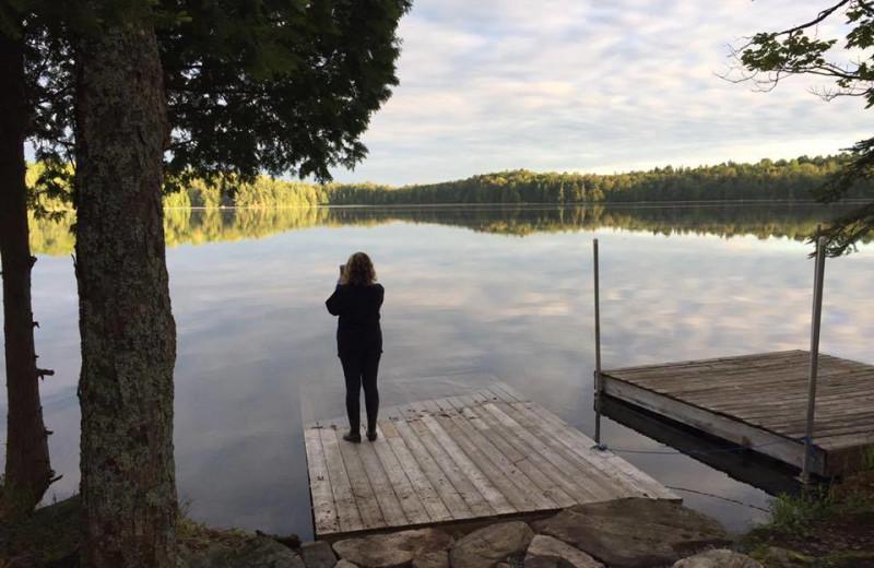 Dock view at Bonnie Lake Resort.
