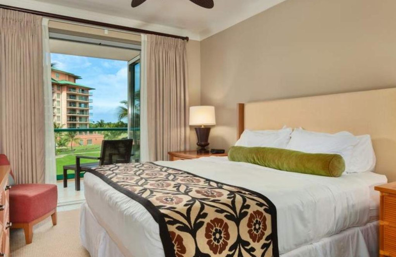 Guest bedroom at Honua Kai Resort & Spa.
