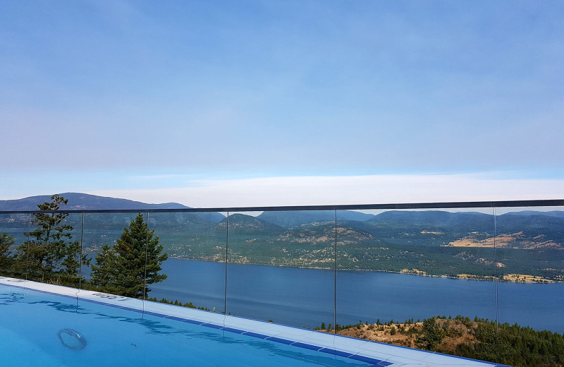 Lake view at Sparkling Hill Resort.