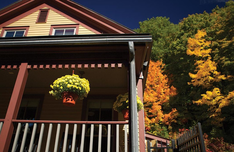 Exterior view of The Porches Inn.