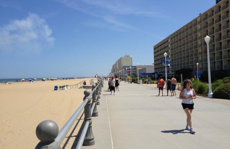 The beach at The Oceanfront Inn.