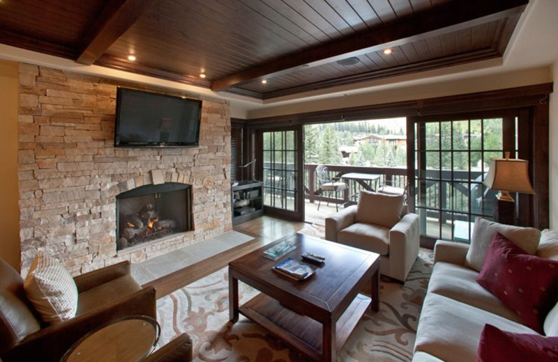Rental Home Living Area at Triumph Mountain Properties