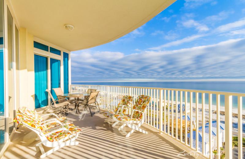 Rental balcony at LuxuryGulfRentals.com.