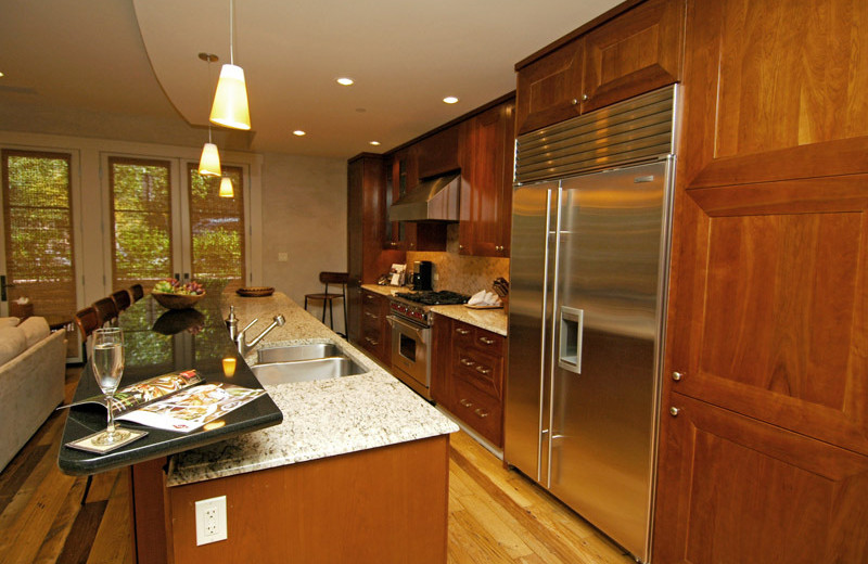 Rental kitchen at Frias Properties of Aspen.
