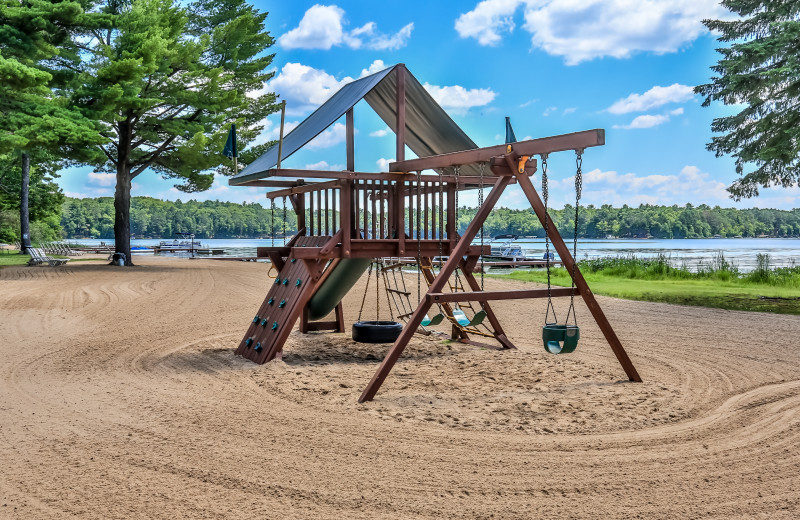 Beach playground at Serenity Bay Resort.