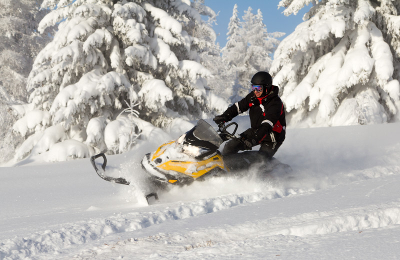 Snowmobiling at White Lake Lodges.