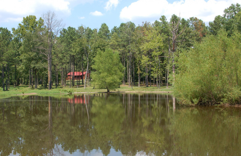 Cabin on lake at Remember When Cabins.