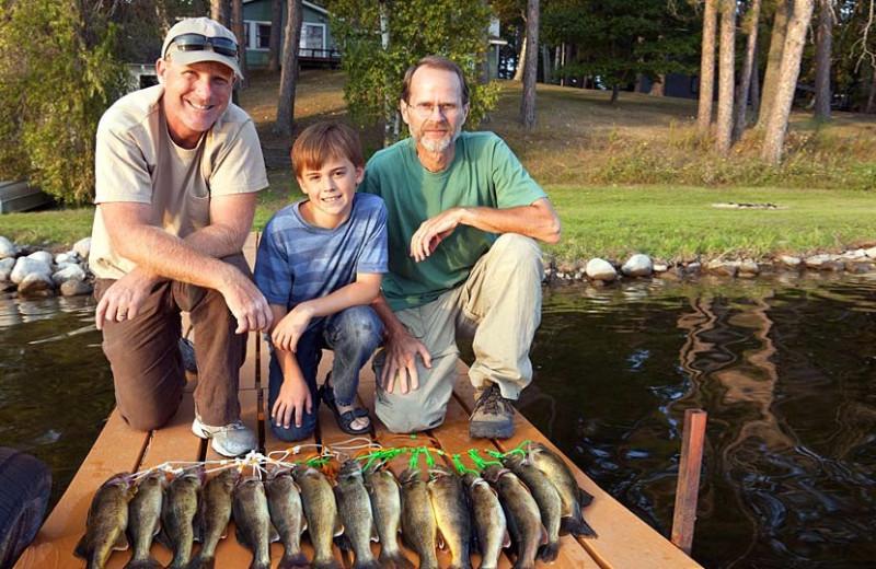 Fishing at The Pines of Kabetogama Resort.