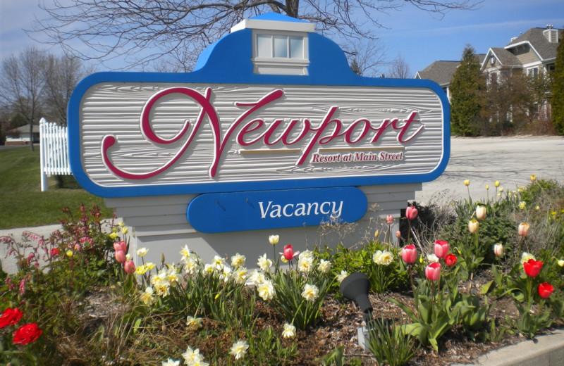 Newport Resort sign.