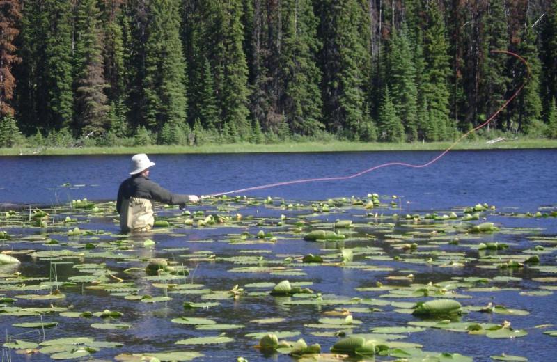 Fishing at Siwash Lake Ranch