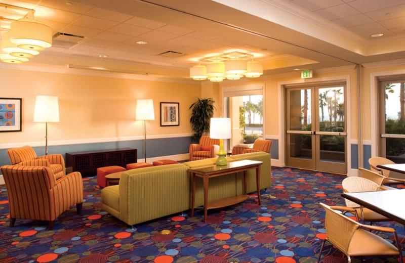 Lobby view at Wyndham Oceanside Pier Resort.