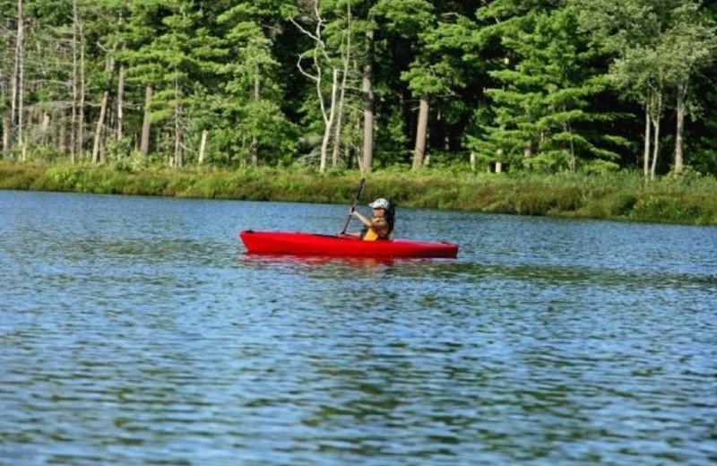 Kayaking at The Lodge at Woodloch.