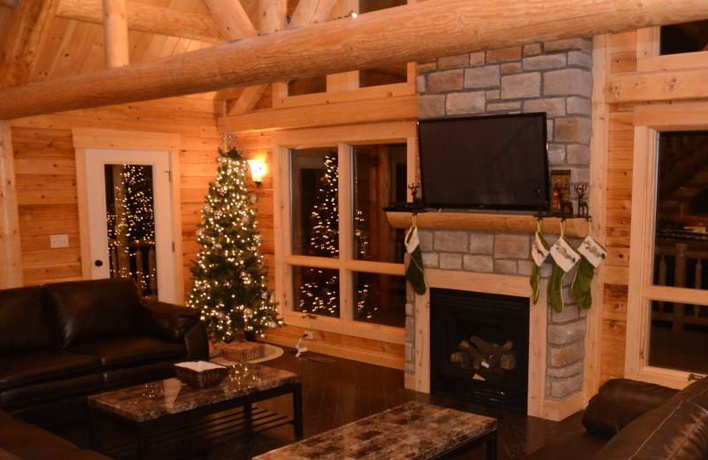 Christmas at Cut Above Cabins.